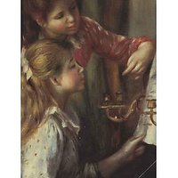 Young Girls At The Piano (Detail) By Renoir - Canvas Art Print