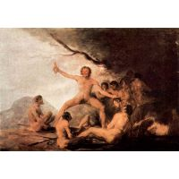 The Cadaver Of The Brebeuf Jesuit By Goya - Canvas Art Print