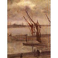 Dockyard Of Chelsea, Grey And Silver By Whistler - Museum Canvas Print