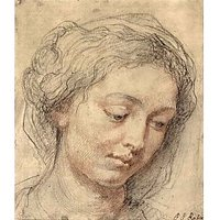 Head Of A Woman [2] By Rubens - Canvas Art Print