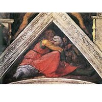 The Ancestors Of Christ - Family Of King Asa By Michelangelo - Canvas Art Print