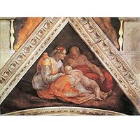 The Ancestors Of Christ - Family Of Zorobabel By Michelangelo - Museum Canvas Print