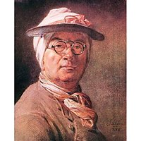 Self-Portrait With Glasses By Jean Chardin - Canvas Art Print