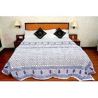 Jaipuri White Cotton Quilts & Comforters(FNR02001D)