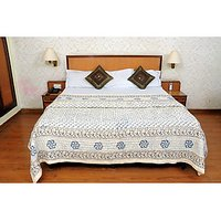Jaipuri White Cotton Quilts & Comforters(FNR02002D)