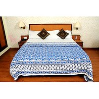 Jaipuri Blue Cotton Quilts & Comforters(FNR02003D)