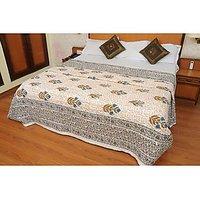 Jaipuri Beige Cotton Quilts & Comforters(FNR02005D)