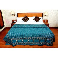 Jaipuri Blue Cotton Quilts & Comforters(FNR02006D)