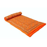 Jaipuri Orange Cotton Quilts & Comforters(FNR02007D)