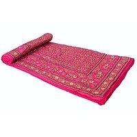 Jaipuri Pink Cotton Quilts & Comforters(FNR02008D)