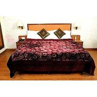 Jaipuri Red Velvet Quilts & Comforters(FNR02009D)