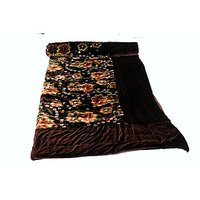 Jaipuri Brown Velvet Quilts & Comforters(FNR02010D)