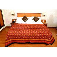 Jaipuri Red Cotton Quilts & Comforters(FNR02013S)