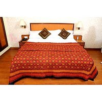 Jaipuri Red Cotton Quilts & Comforters(FNR02013D)