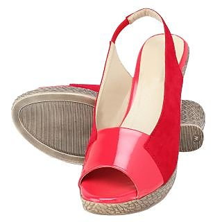 Niremo Women's Sleek Fleet Red Patent Wedges