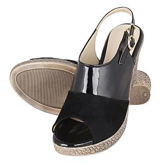 Niremo Women's Contrast Mischief Black Patent Wedges