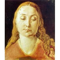Head Of Mary [1] By Durer - Canvas Art Print