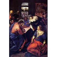 Christ With Mary And Martha By Tintoretto - Fine Art Print