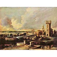 Landscape With The Tower Of The Castle Steen By Rubens - Museum Canvas Print