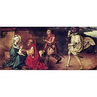 Adoration Of The Magi Detail By Durer - Museum Canvas Print