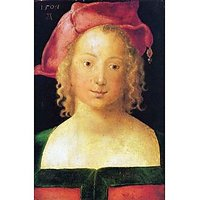 Portrait Of A Young Girl With A Red Beret By Durer - Museum Canvas Print