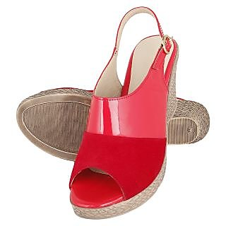 Niremo Women's Contrast Mischief Red Patent Wedges