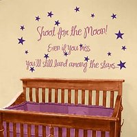 Wall Stickers Wall Decals Shoot For The Moon Wall Quote 2114