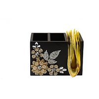 Tissue Holder-Metal Tissue Holder-Metal Flower Tissue Holder-By Aradhna Arts