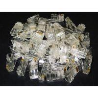 100 Pcs. Pack Of Rj 45 Cat 5- Cat 5e Gold Platted Connectors/UTP Plugs