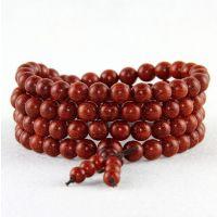 Sandalwood Mala, Red Sandalwood Rosary, Japa Mala, 108+1 Beads - 74797672