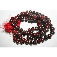 Sandalwood Mala, Red Sandalwood Rosary, Japa Mala, 108+1 Beads - 74804838