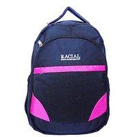 Racial Trendy Laptop Backpack (Black & Pink)