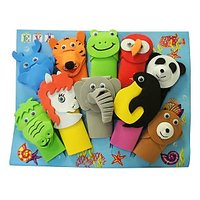 Wild Animals Finger Puppets (Set Of 10)
