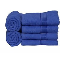Eurospa Eurospa Paradise Cotton Hand Towel Set(6 Bath Towel, Blue)