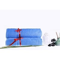 Eurospa Cotton Bath Towel Set(2 Piece Of Bath Towels, Blue