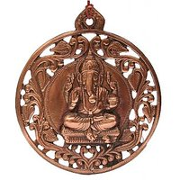 Sri Alankar Ganesha Black Metal Wall Hanging Idol(16cmx0.5cmx18.5cm)