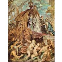The Medici'S Arriving In Marseille, Detail By Rubens - Fine Art Print