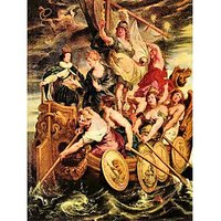 The Medici'S Queen Escapes From Blois By Rubens - Fine Art Print