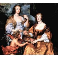 Elizabeth Thimbleby And Dorothy Viscountess Andover By Van Dyck - Museum Canvas Print