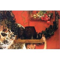 The Roman Pottery In Britain By Alma-Tadema - Canvas Art Print