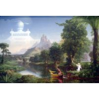 The Voyage Of Life - Youth By Thomas Cole - Museum Canvas Print
