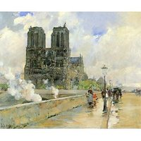 Cathedral Of Notre Dame, 1888 By Hassam - Fine Art Print