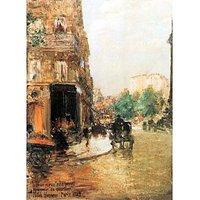 Parisian Street Scene [2] By Hassam - Museum Canvas Print