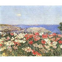 Poppies On The Isles Of Shoals By Hassam - Fine Art Print