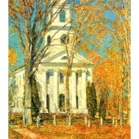 The Church Of Old Lyme, Connecticut [2] By Hassam - Fine Art Print