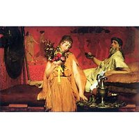 In A State Of Trepidation By Alma-Tadema - Fine Art Print