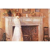 In The Old House By Hassam - Fine Art Print