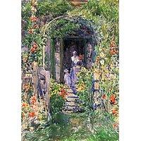 Isles Of Shoals Garden By Hassam - Fine Art Print
