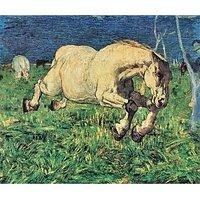Galloping Horse By Giovanni Segantini - Fine Art Print