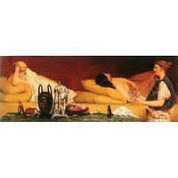 The Siesta By Alma-Tadema - Canvas Art Print
